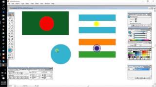 Het maken van verschillende type van de nationale vlaggen? (Al-Mamun)