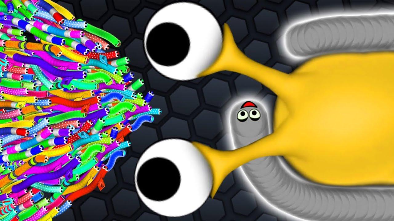 Slither.io 1 Troll Hacker Snake vs 91417 Snakes Epic Slitherio Gameplay!