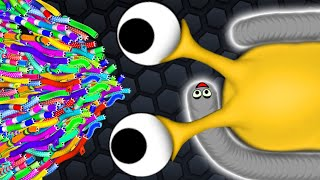 Slither.io 1 Troll Hacker Snake vs 91417 Snakes Epic Slitherio Gameplay!