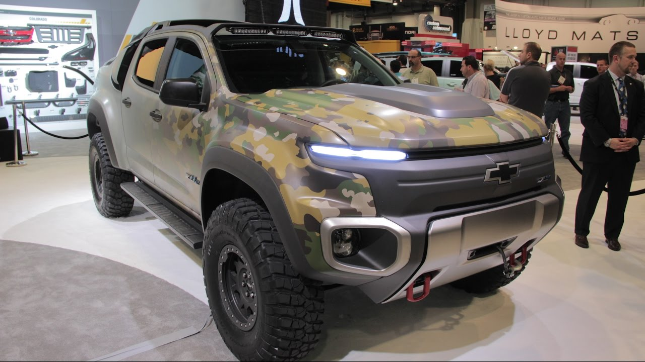 Chevy Colorado ZH2 Concept - 2016 SEMA Show - YouTube