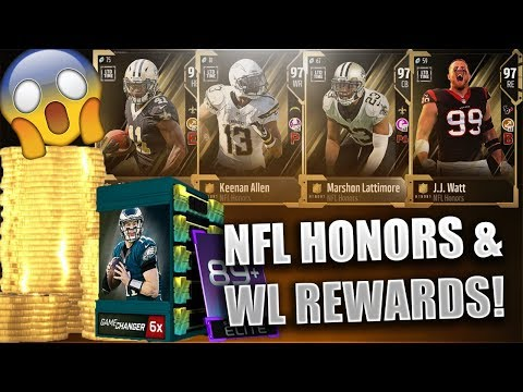 NFL HONORS PLAYERS AND WEEKEND LEAGUE REWARDS! - MADDEN NFL 18