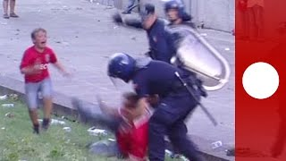 Outcry in Portugal: Police beat football supporter in front of his children