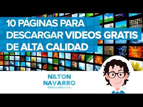 10 Páginas para descargar videos gratis de alta calidad HD 4K | #RedesSociales | Nilton Navarro