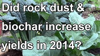Did Rock Dust & Biochar Increase Our Yields in 2014?