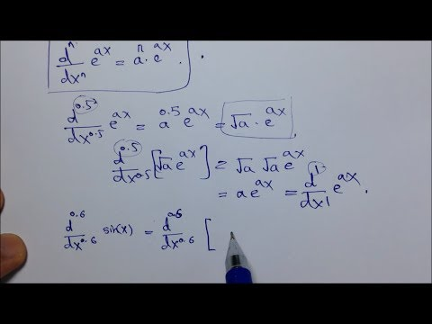 Fractional order derivative of a function & fractional numbers' factorial.
