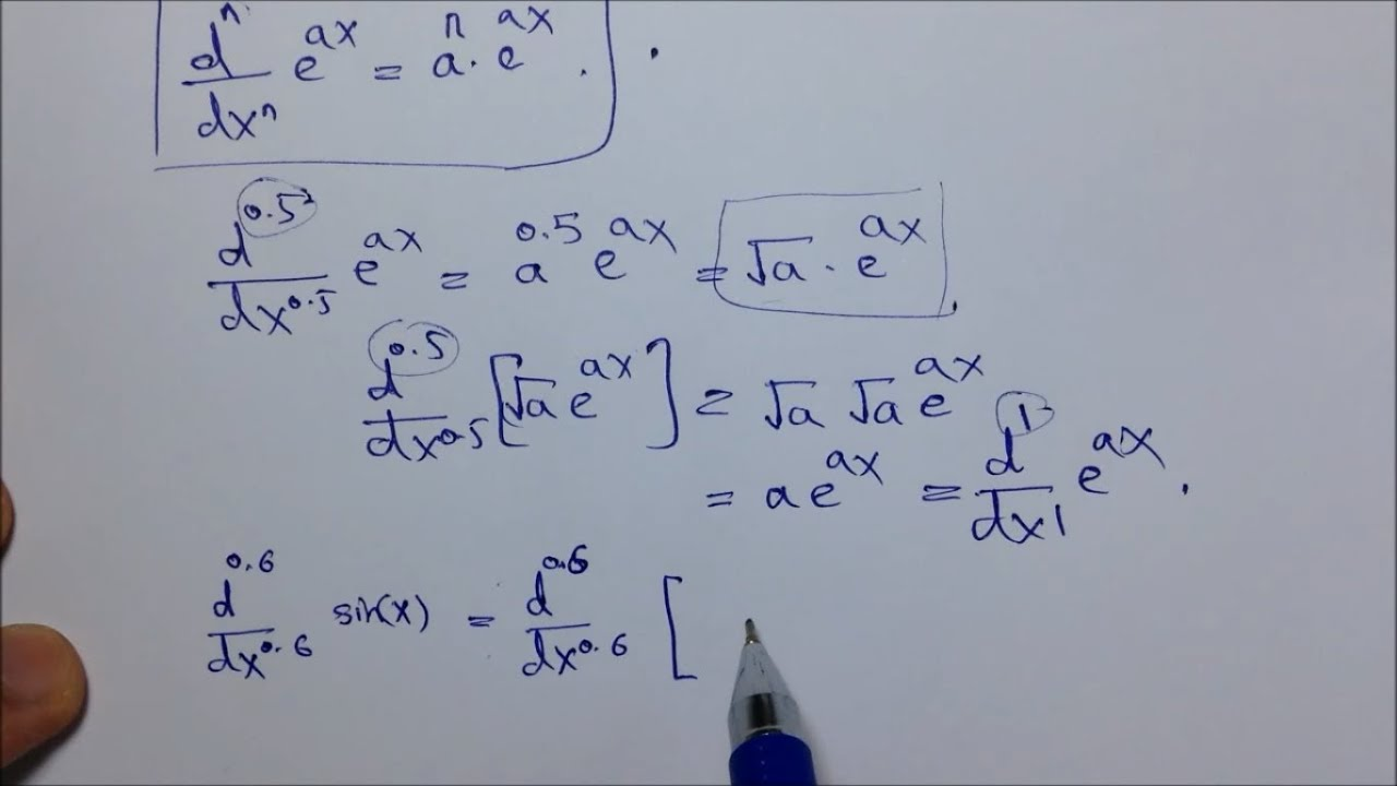 Fractional Order Derivative Of A Function Amp Fractional