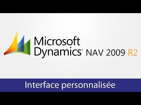 Interface personnalisée Microsoft Dynamics NAV 2009 R2