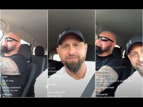 Karl Anderson accidentally calls Finn Balor Prince Devitt while driving with Luke Gallows