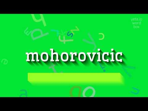 "How to say ""mohorovicic""! (High Quality Voices)"