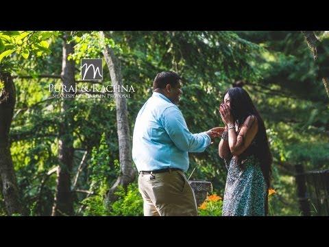 Shakespeare Garden Wedding  Proposal