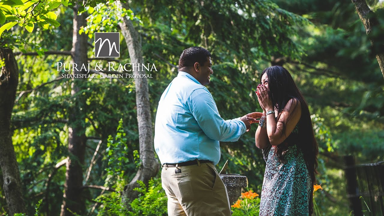 Shakespeare garden wedding proposal youtube for Garden design proposal