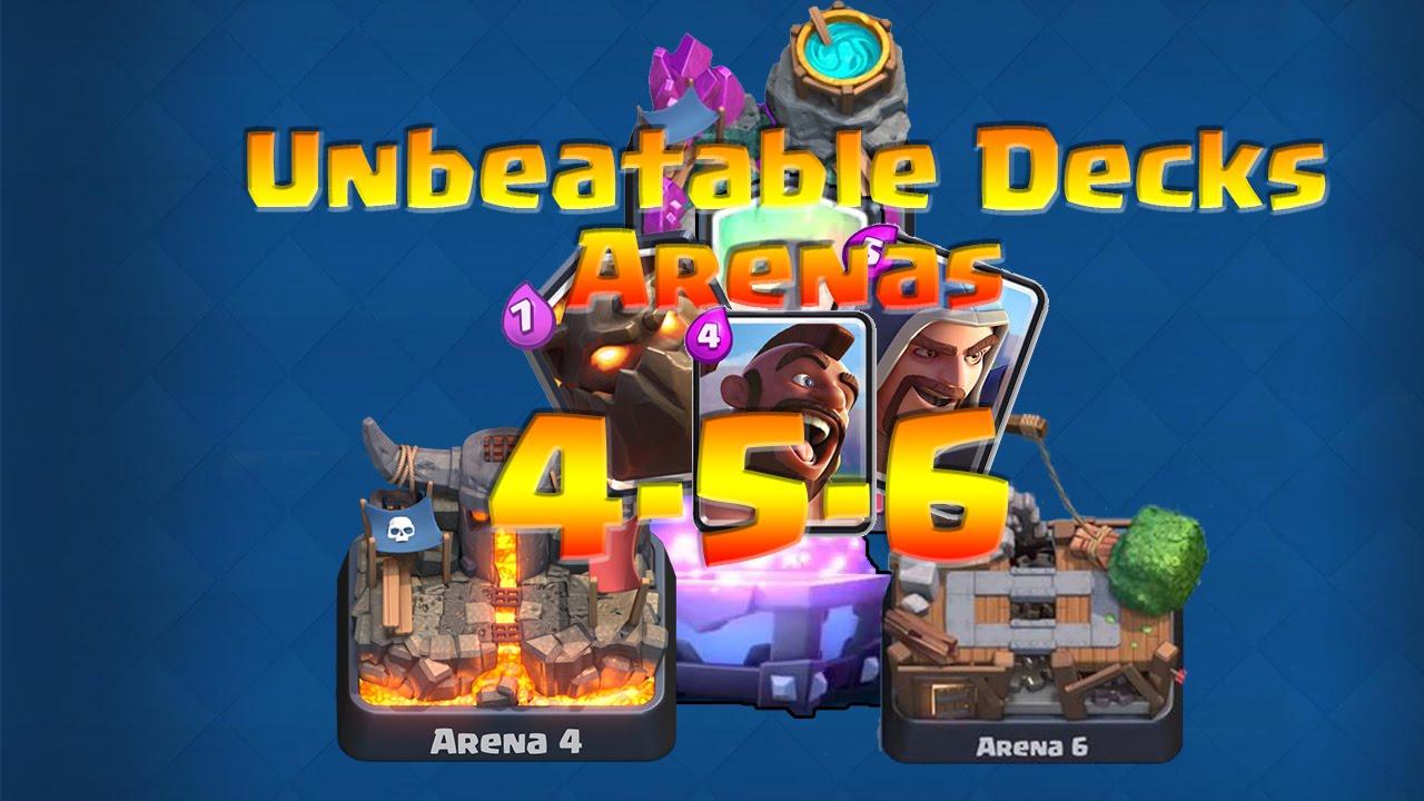 Clash Royale Arena 4 5 6 Unbeatable Deck Super Magical