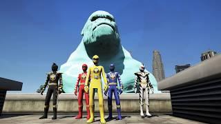 GTA 5 - 5 anh em siêu nhân khủng long sấm sét và cậu bé mặt trăng kỳ lạ | GHTG