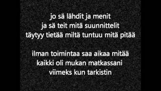 Raappana - Kauas pois (lyrics on the screen)