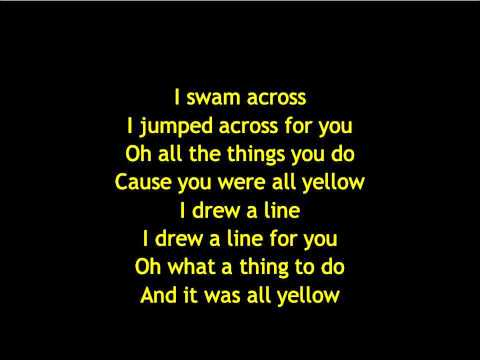 Coldplay  Yellow Lyrics