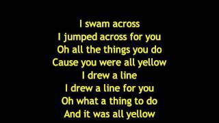 Download Coldplay - Yellow Lyrics