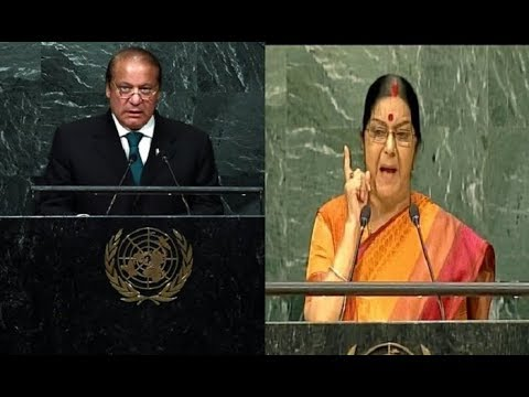 India made IIT, IIM, and AIIMS, Pak made LeT, terrorist camps: Sushma Swaraj @UN