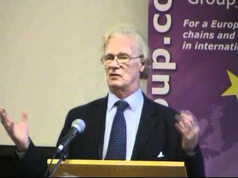 Christopher Booker Speaks at the Bruges Group Bruges London 2009