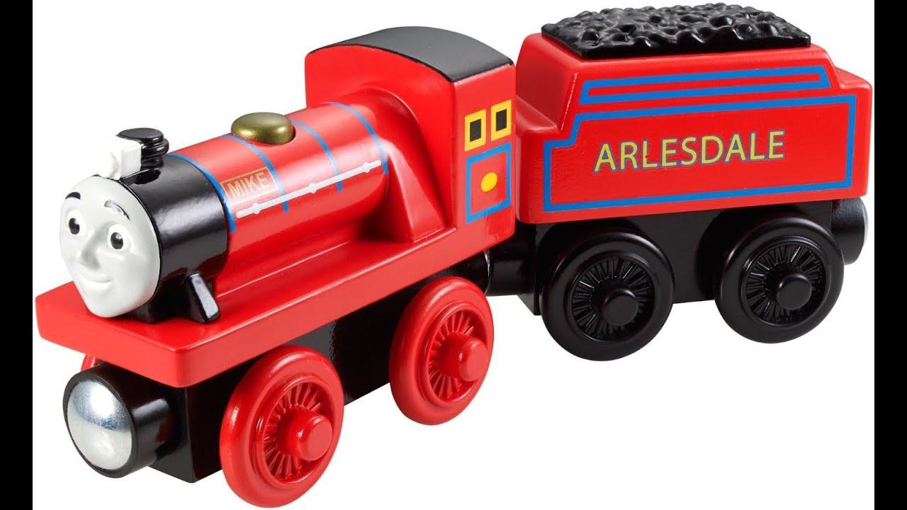 thomas el tren de ferrocarril de madera mike tren juguete para nios