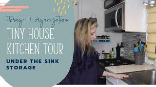 Tiny House Kitchen Tour: Under the Sink Storage