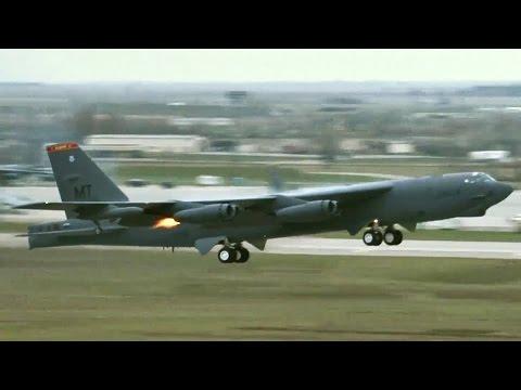 B-52H Put On A Smoke Show During Minimum Interval Takeoff