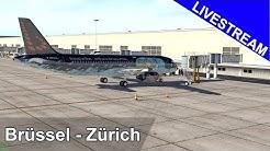 Brüssel - Zürich (EBBR-LSZH) | Airbus a320 | XPlane 11 Live