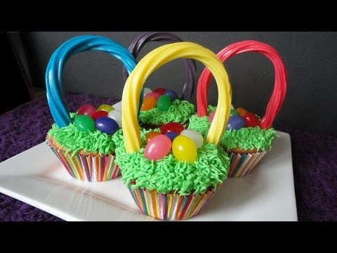 Easter basket cupcakes youtube easter basket cupcakes negle Gallery
