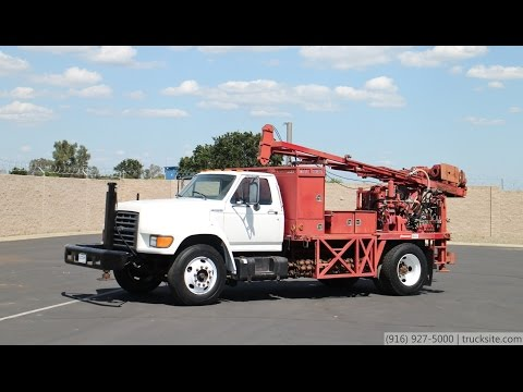1998 Ford F800 Foremost Mobile B-47 HD Drill Rig for sale