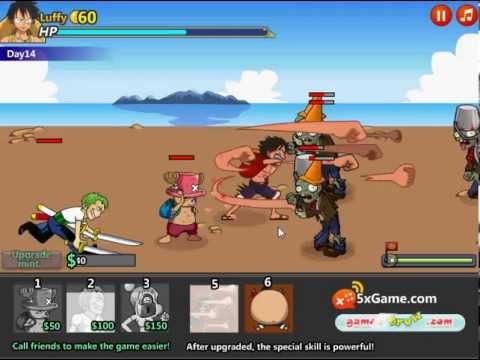 วีดีโอการเล่นเกม One Piece Vs Zombies วันพีชปะทะซอมบี้