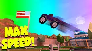 Flying Monster Truck Over The Prison!!  Roblox Jailbreak