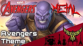 Gambar cover THE AVENGERS THEME 【Intense Symphonic Metal Cover】  【178k Special】