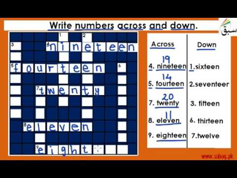 Numbers Across And Down (mixed) (fill The Puzzle)