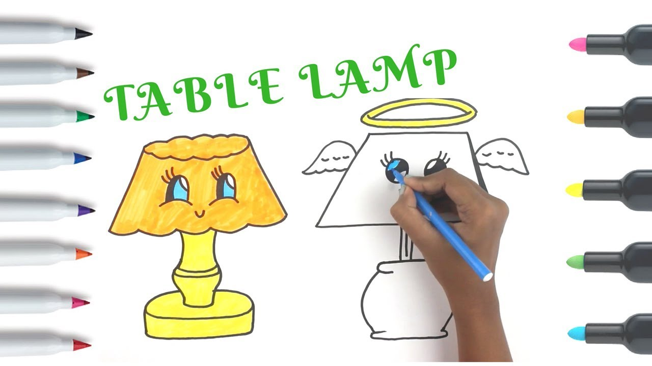 Table lamp drawing and coloring easy things to draw coloring table lamp drawing and coloring easy things to draw coloring pages for kids geotapseo Gallery