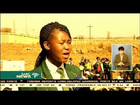 SABC News Trek4Mandela team donates sanitary pads