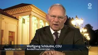 Wolfgang Schäuble ( CDU ) kritisiert Varoufakis