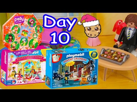 Polly Pocket, Playmobil Holiday Christmas Advent Calendar Day 10 Toy Surprise Opening Video
