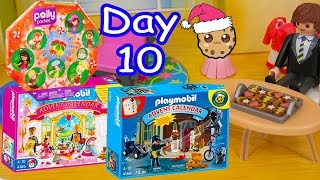 polly pocket playmobil holiday christmas advent calendar day 10 toy surprise opening video