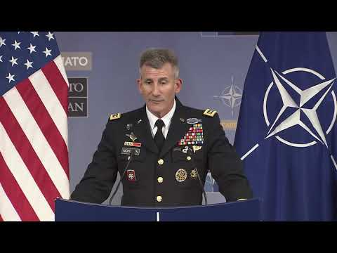 Commander of Resolute Support Mission Press Conference at NATO North Atlantic Council Meetings