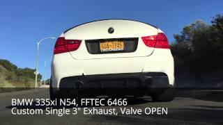 BMW N54 Exhaust Comparison:  Single Turbo vs Hybrid Turbos