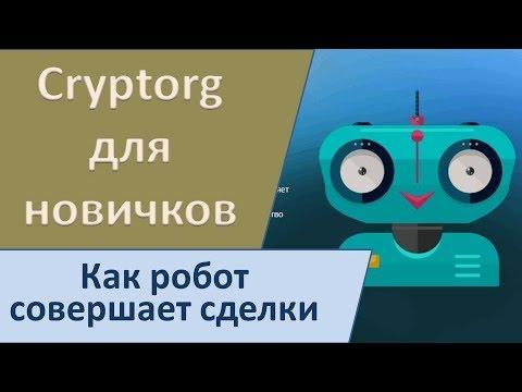 Cryptorg для новичков. Как робот совершает сделки