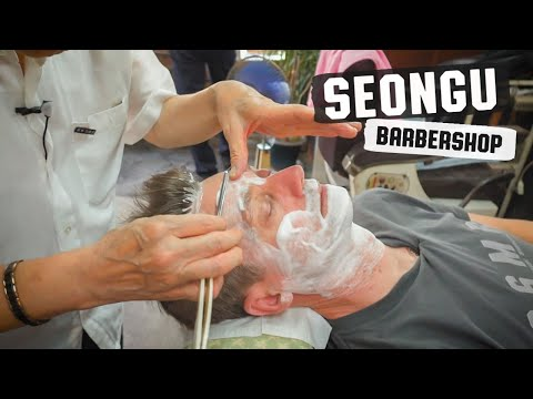 💈 Relaxing Shave With Hair Wash & Style |  성우이용원 Seongu South Korea's Oldest Barbershop In Seoul