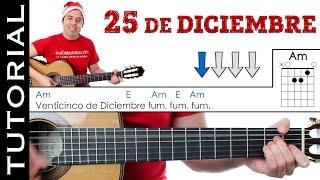 Como tocar Villancico 25 de Diciembre (Fum fum fum) en guitarra