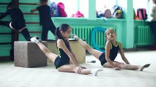 Тренировка художественная гимнастика/ растяжка на шпагат