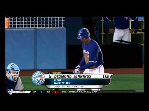 MLB 12: The Show Fantasy Draft TB Franchise gms 36-37 vs TOR