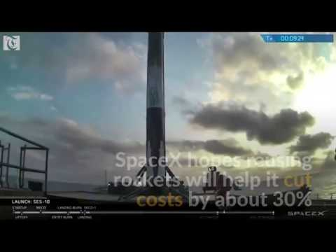 SpaceX launches first ever recycled rocket booster