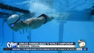 Armless swimmer prepares for World Championship