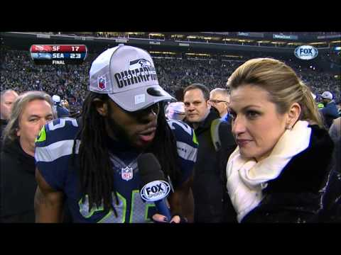 Now that Michael Crabtree is heading back to the NFC West and will be matched up again 2x a year against Richard Sherman, let's revisit Sherman's classic NFC Championship post-game Crabtree rant from 2014