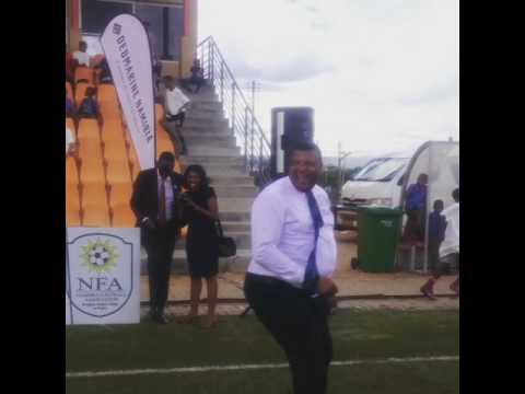 NFA Secretary General ball juggling 😂😂⚽️⚽️