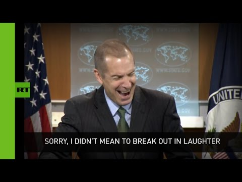 Transparency? Ha! US State Dept spox bursts into laughter at press briefing