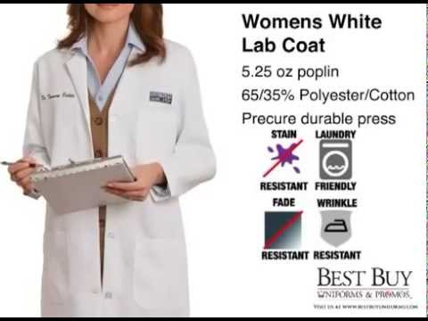 Womens White Lab Coat | Medical Style Lab Coat - Customizable